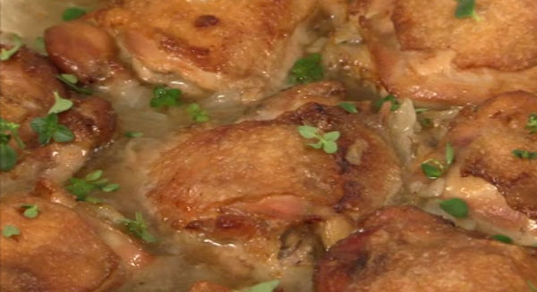 BRAISED CHICKEN AND GARLIC