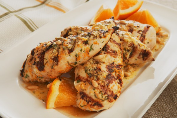 CHICKEN with HONEY and PINE NUTS