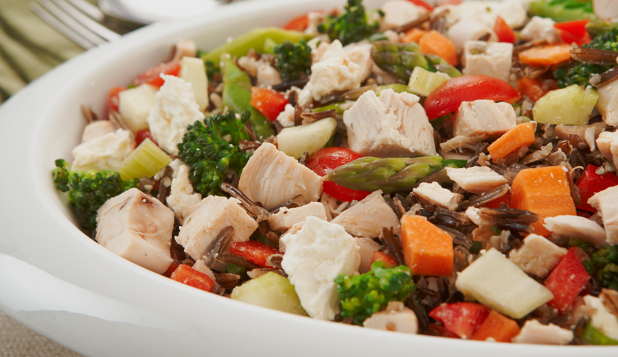 CHICKEN AND WILD RICE TABOULEH