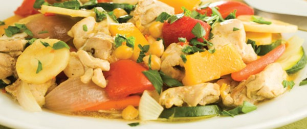 CHICKEN with FALL VEGETABLES and COUSCOUS