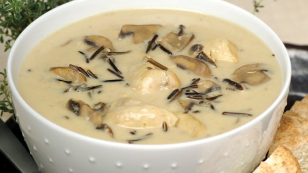 CHICKEN MUSHROOM AND WILD RICE SOUP
