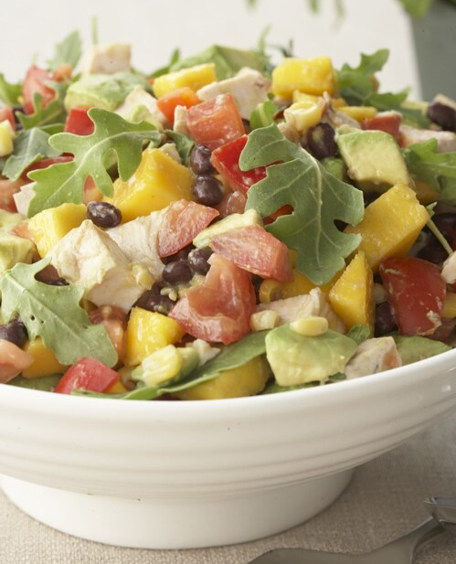CHICKEN AVOCADO AND BLACK BEAN SALAD