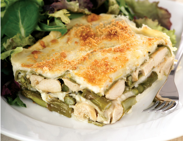 CHICKEN AND ASPARAGUS LASAGNA