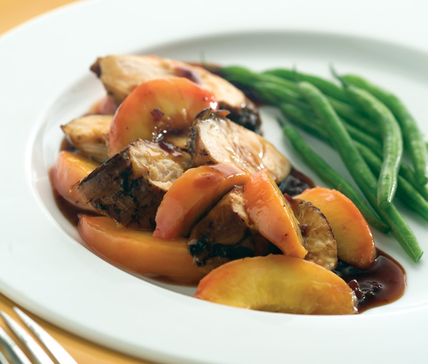GRILLED CHICKEN WITH FRESH PEACH GINGER SAUCE