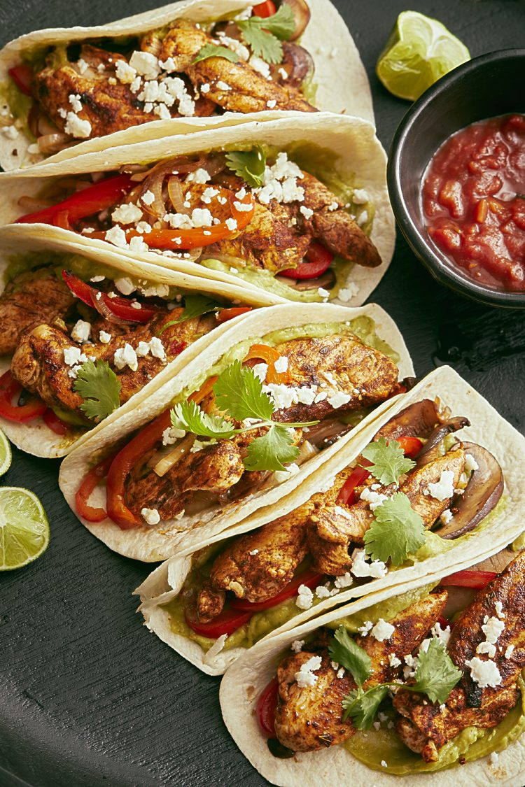 CHICKEN PORTABELLA SOFT TACOS