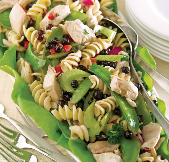 CHICKEN PASTA SALAD WITH SASKATOON BERRIES