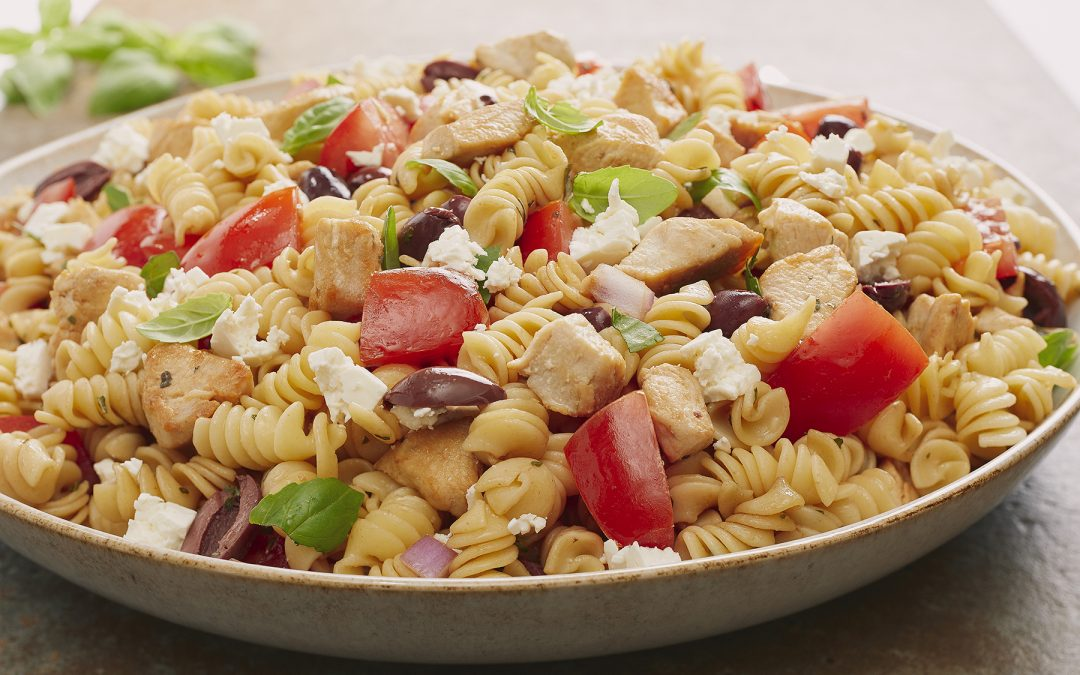 CHICKEN with ROTINI TOMATOES and FETA