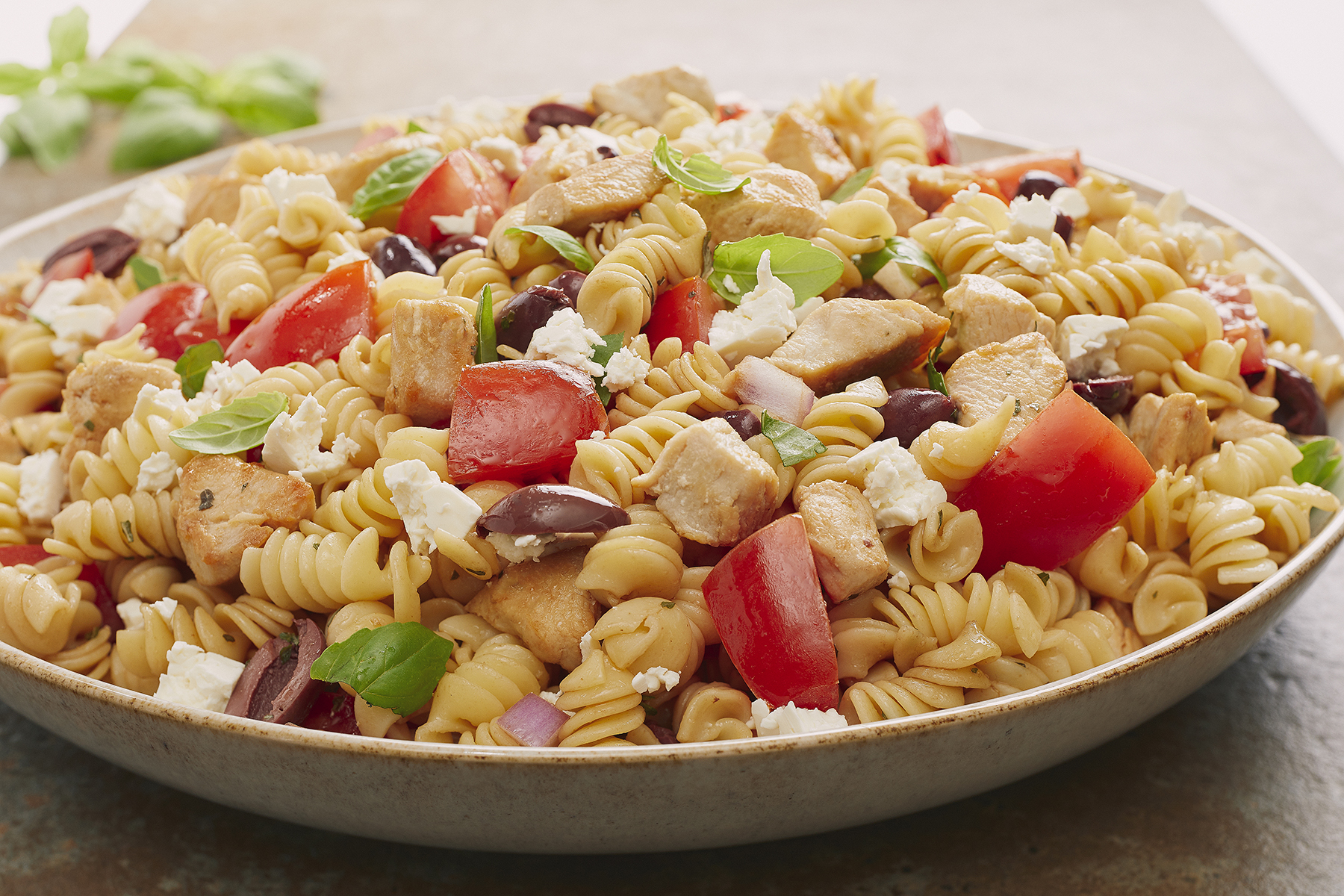 ROTINI with CHICKEN, TOMATOES and FETA