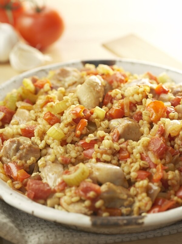 CHICKEN AND BARLEY JAMBALAYA