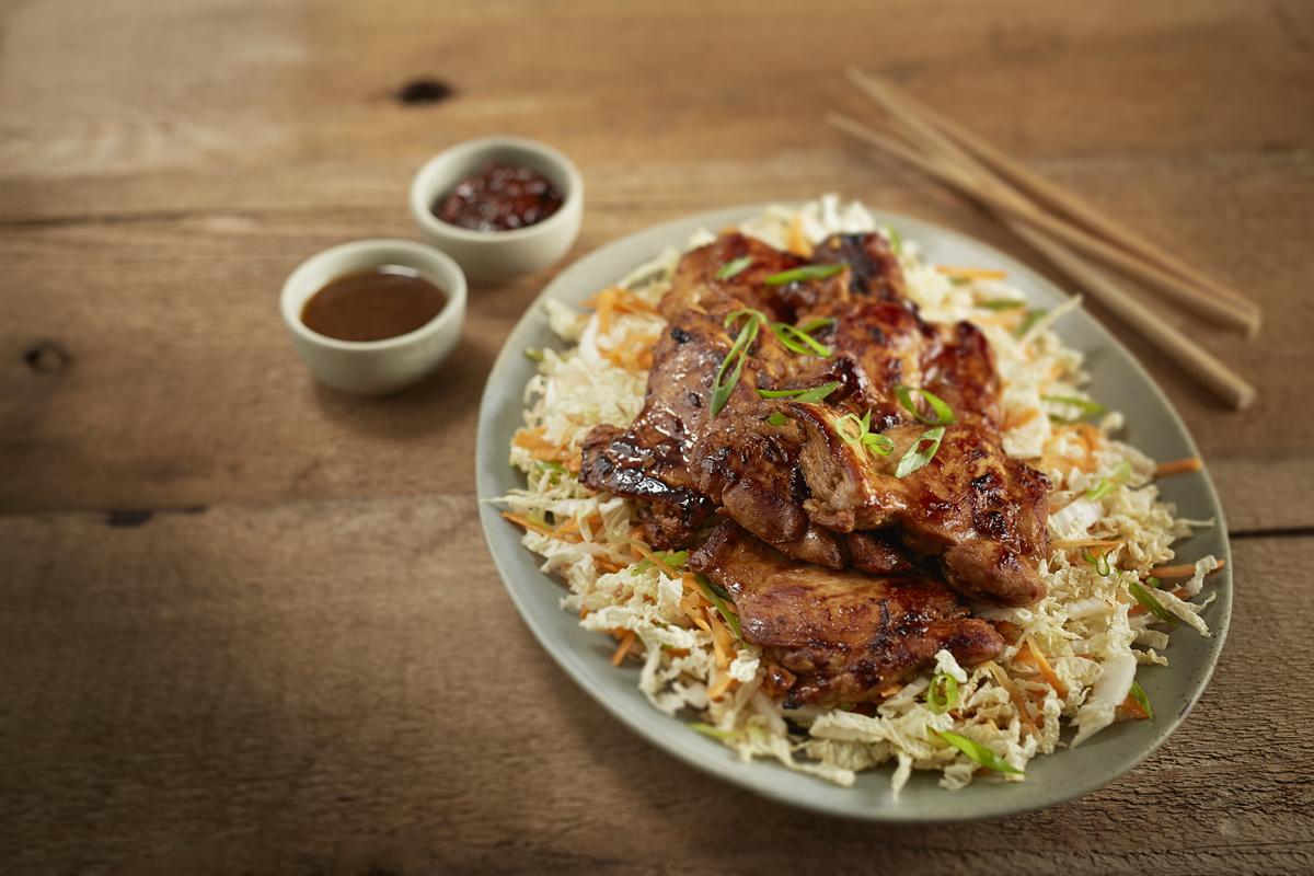 Chicken Cutlets With Asian Slaw Manitoba Chicken