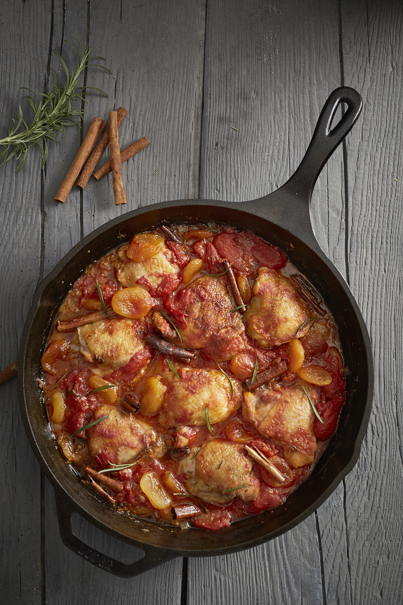 CHICKEN with APRICOTS ROSEMARY and GINGER