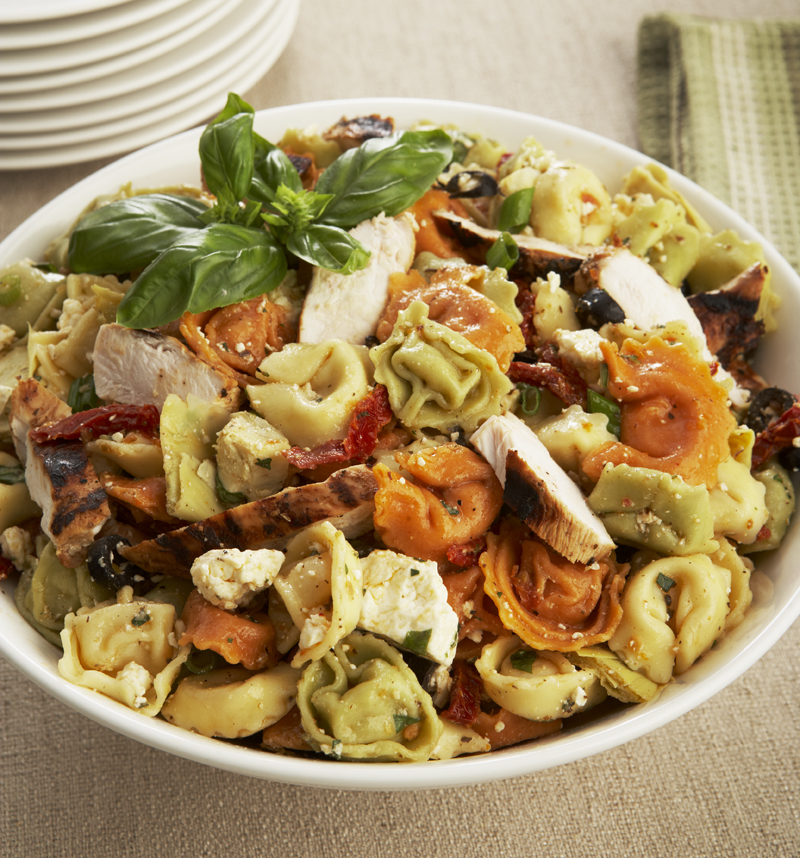 GRILLED CHICKEN AND TORTELLINI SALAD