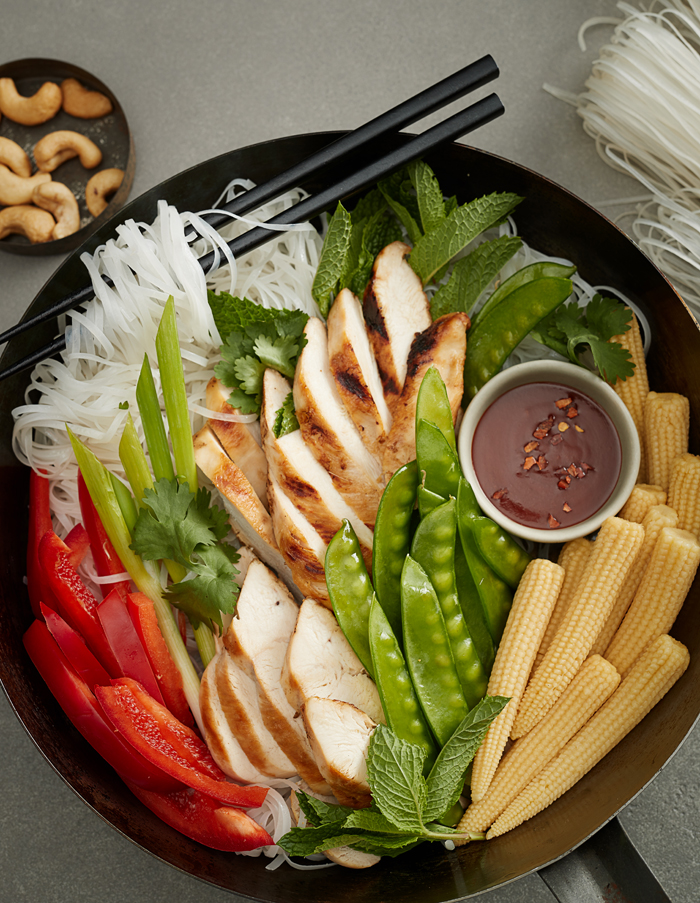 ASIAN GRILLED CHICKEN NOODLE SALAD
