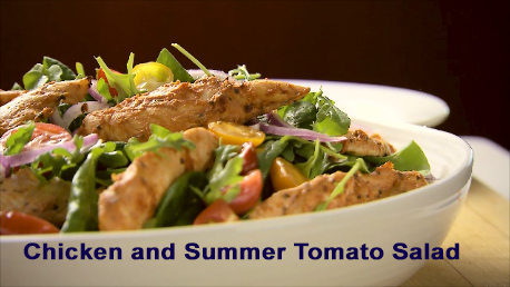 CHICKEN AND SUMMER TOMATO SALAD