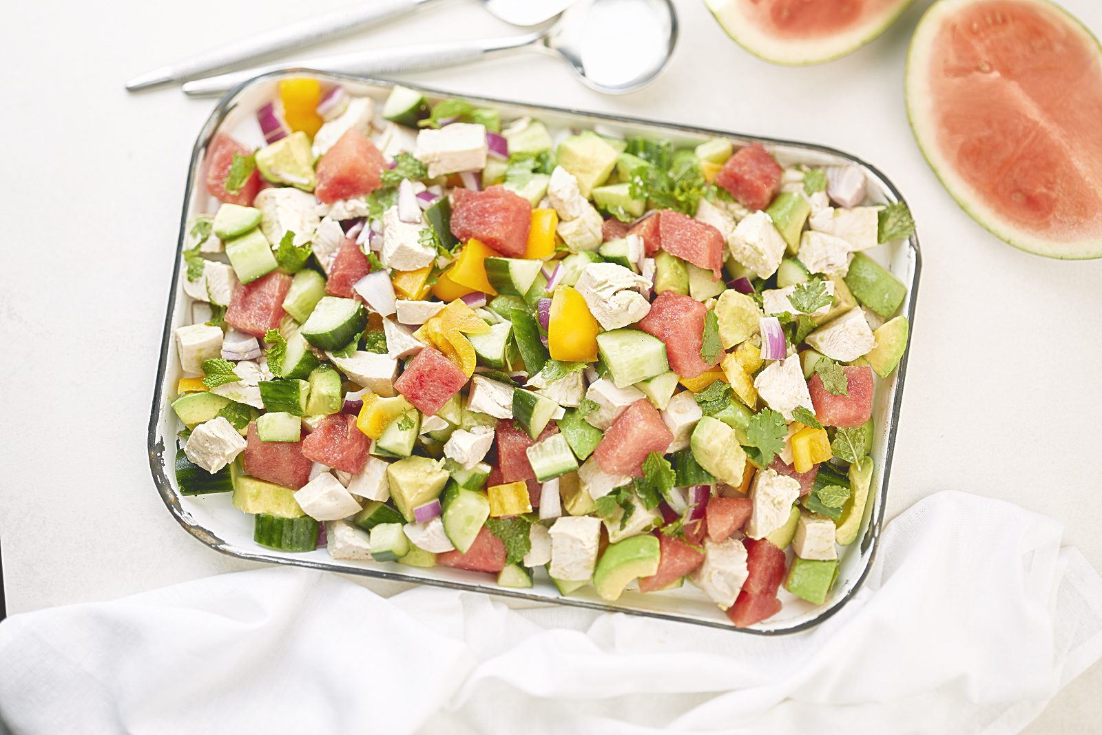 CHICKEN MELON & AVOCADO SALAD