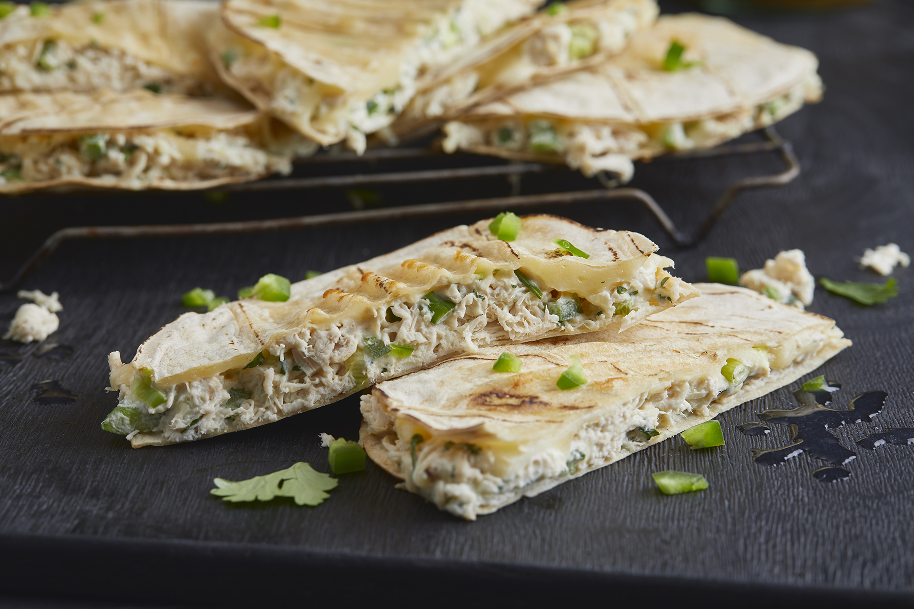 GRILLED CHICKEN LIME & CHEESE QUESADILLAS