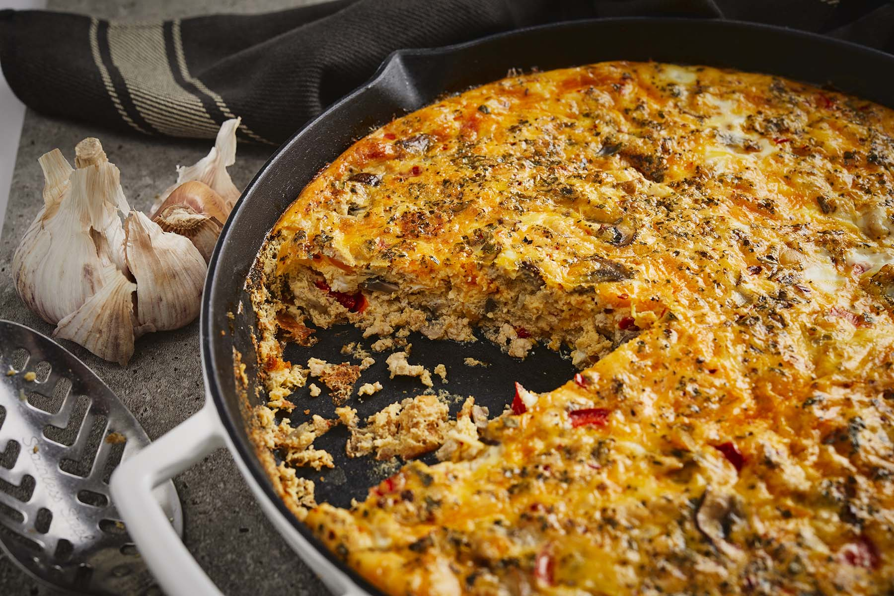 CHICKEN & VEGETABLE FRITTATA